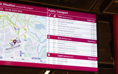 Flughafenanbindung mit den Öffentlichen