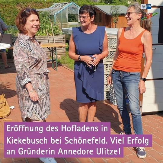 Glückwunsch zur Eröffnung des Hofladens in Kiekebusch bei